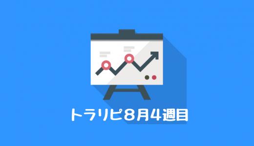 トラリピ8月4週目の運用実績公開!+20,201円!