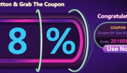Banggoodでホビーセール開催中!8%オフクーポン、ドローンにも利用可能!