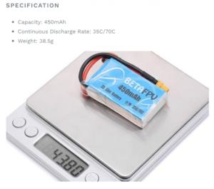 450mAh 3S 70C Lipo Battery