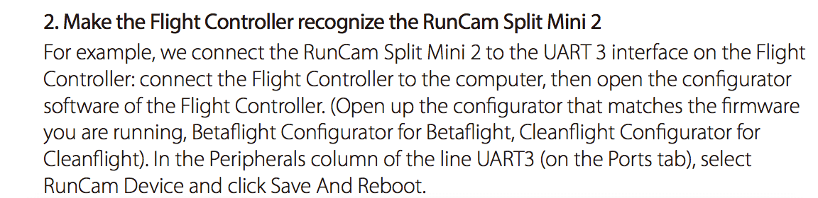 Runcam split mini2