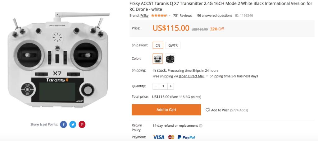 FrSky ACCST Taranis Q X7 Transmitter