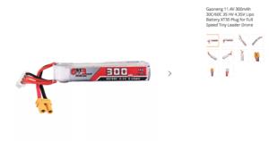 Gaoneng 11.4V 300mAh 30C/60C 3S HV 4.35V Lipo Battery