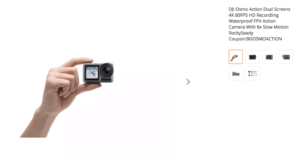 DJI Osmo Action Dual Screens 4K 60FPS HD Recordiing Waterproof FPV Action Camera With 8x Slow Motion RockySeady