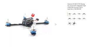 Diatone GT M515 FPV Racing RC Drone PNP Integrated Type F4 8K OSD Runcam Micro Sparrow 2 TBS 800mW
