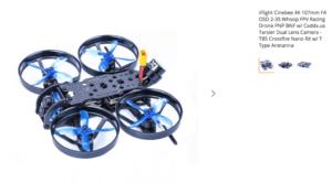 Caddx Tarsier 4Kの搭載機「Geprc CinePro 4K FPV Racing Drone」