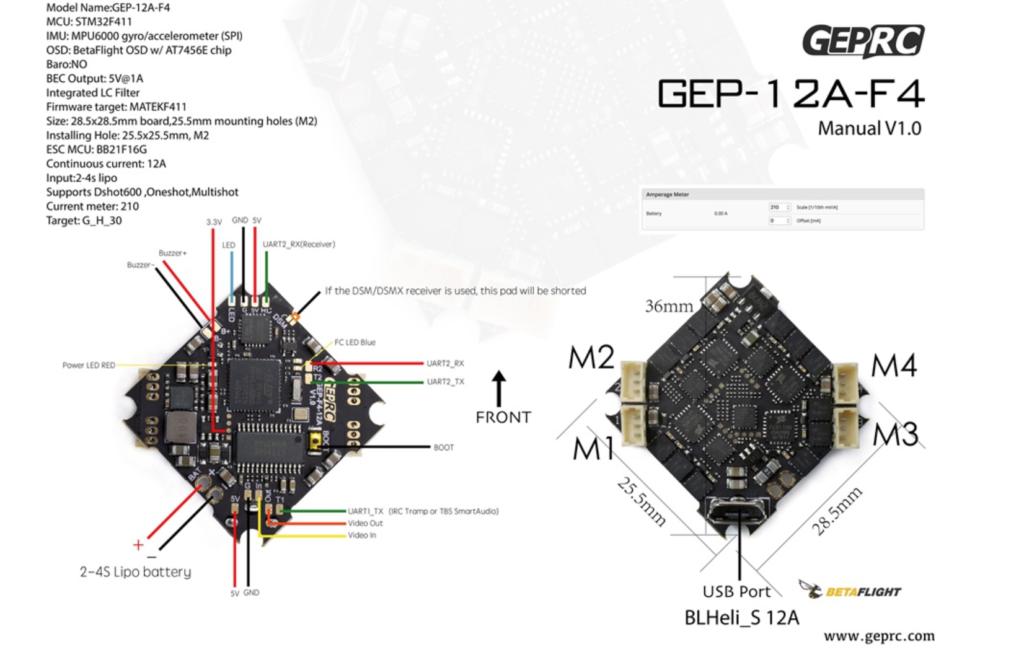 GEPRC GEP-12A-F4 4S AIO Flight Control