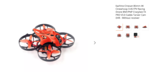 Eachine Cinecan 85mm 4K Cinewhoop 3-4S FPV Racing Drone