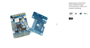 Matek Systems F405-WING (New) STM32F405 Flight Controller Built-in OSD