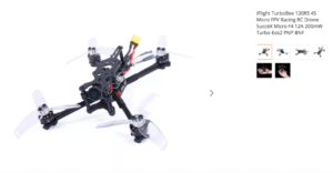 iFlight TurboBee 120RS 4S Micro FPV Racing RC Drone SucceX Micro F4 12A 200mW Turbo Eos2 PNP BNF - Frsky mini XM+ receiver