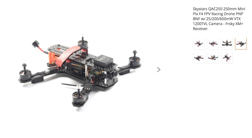 Skystars QAC250 250mm Mini Pix F4 FPV Racing Drone