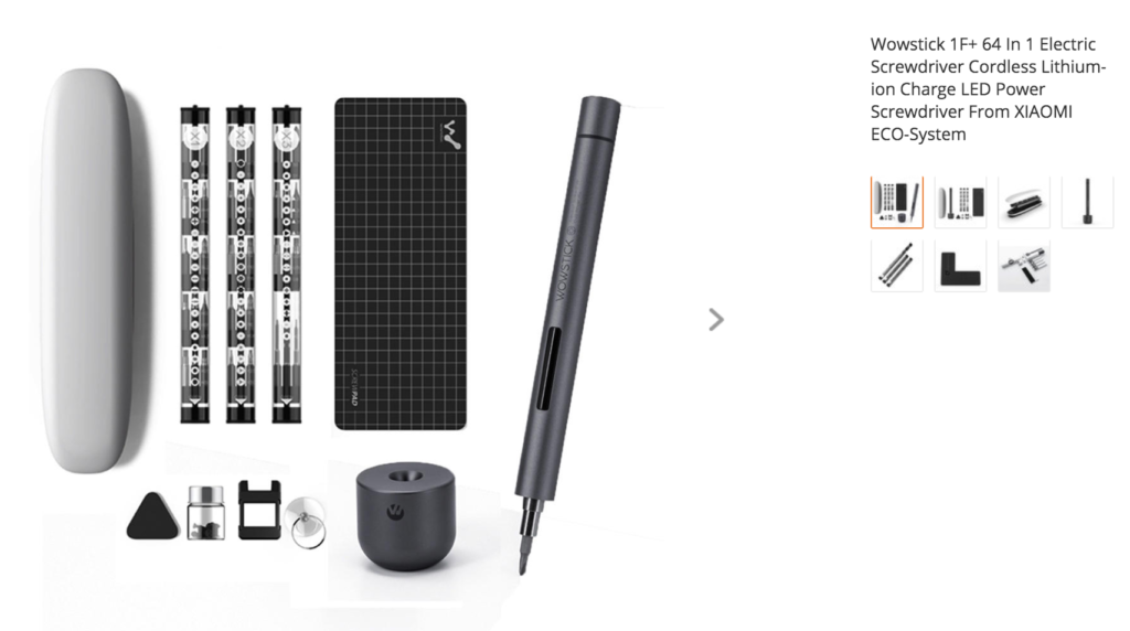 Wowstick 1F+ 64 In 1 Electric Screwdriver Cordless Lithium-ion Charge LED Power Screwdriver From XIAOMI ECO-System
