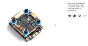 Summer Prime Sale MAMBA F405 Mini Betaflight Flight Controller & F25 25A 3-4S DSHOT600 FPV Racing Brushless ESC