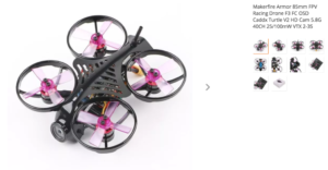 Makerfire Armor 85mm FPV Racing Drone F3 FC OSD Caddx Turtle V2 HD Cam