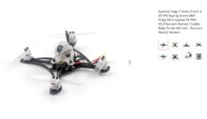 Eachine Twig 115mm 3 Inch 2-3S FPV Racing Drone BNF