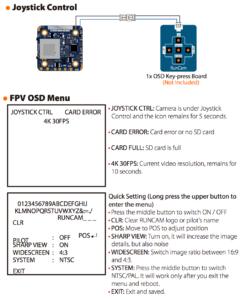 RunCam Hybrid 4K 30fps FOV 145 Degree HD Recording DVR Dual Lens Mini FPV Camera Low Latency Single Board for RC Racing Drone