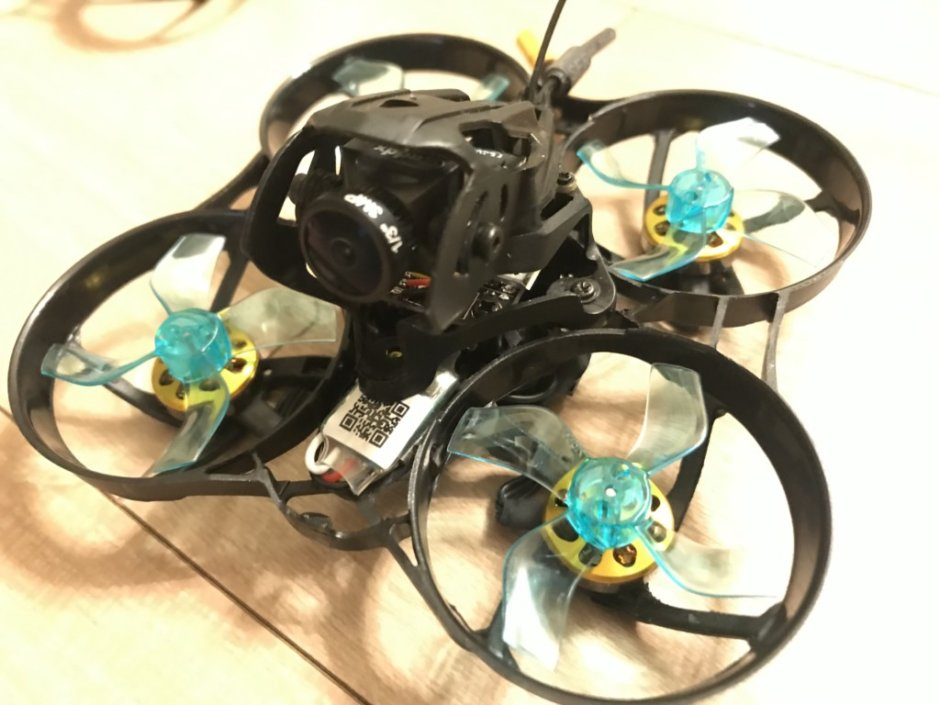 Geelang Anger 75X 75mm 4S Whoop FPV Racing Drone with F4 OSD 12A Blheli_S 5.8G 200mW VTX Caddx EOS V2 Cam