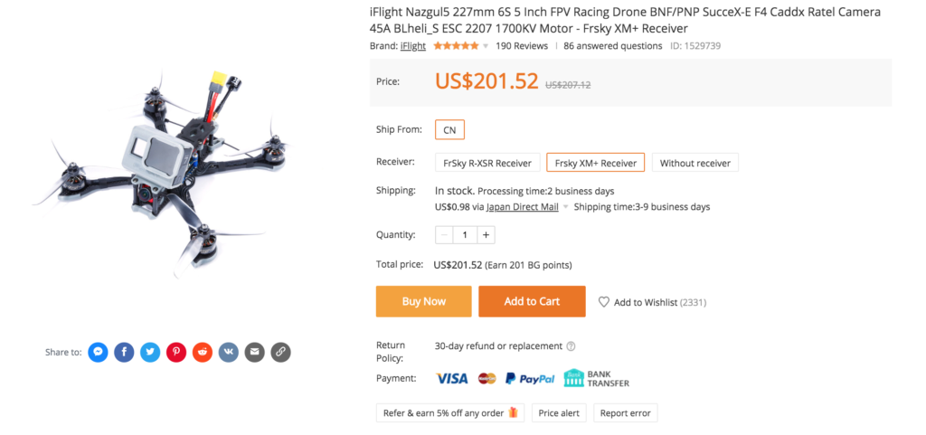 iFlight Nazgul5 227mm 6S 5 Inch FPV Racing Drone