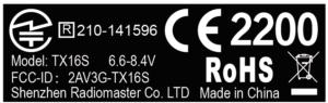 RadioMaster TX16S Hall Sensor Gimbals 2.4G 16CH Multi-protocol