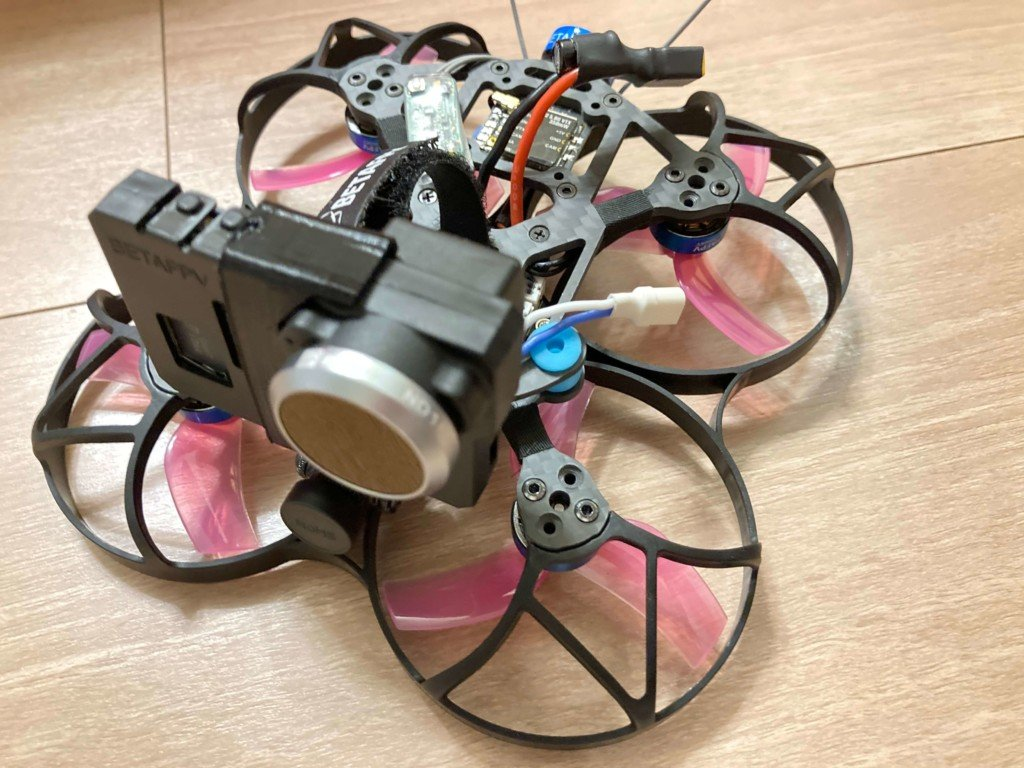 Beta95X V2 Whoop Quadcopterの外観写真