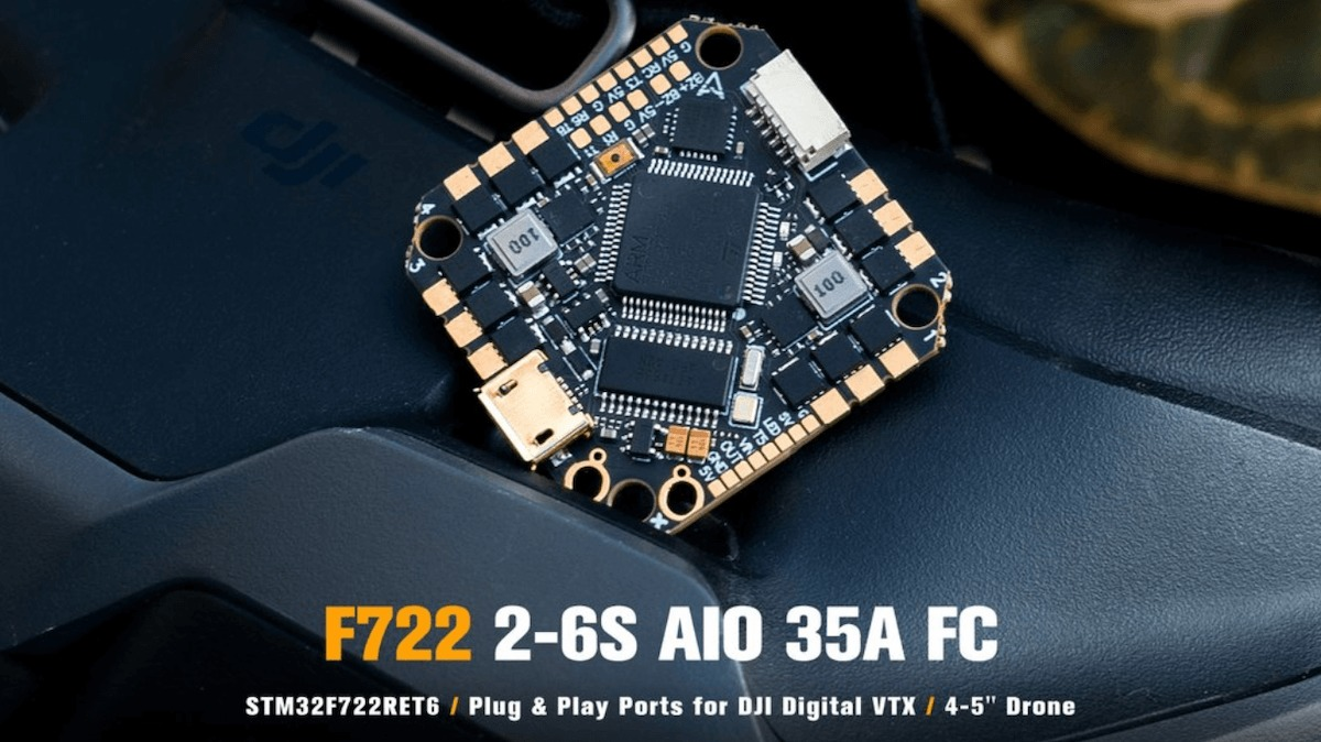 Toothpick F722 2-6S AIO Brushless Flight Controller 35A(BLHeli_32)