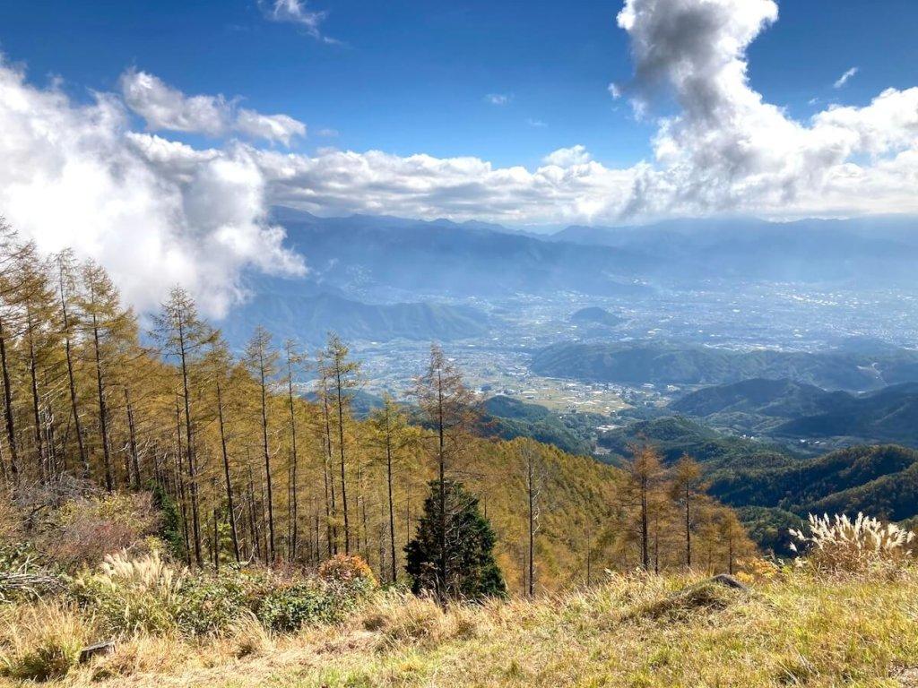小楢山の山頂からの景色